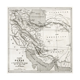 Persia Old Map. Created By Vuillemin, Published On Le Tour Du Monde, Paris, 1860 Posters por  marzolino