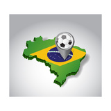 Brazil. Brazilian Soccer Concept Illustration Prints by  alexmillos