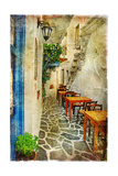 Traditional Greek Tavernas - Artwork In Painting Style Prints by  Maugli-l