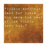 Inspirational Quote By John Wooden On Earthy Brown Background Prints by  nagib