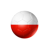 Soccer Football Ball With Poland Flag Poster by  daboost