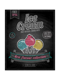 Vintage Ice Cream Poster - Chalkboard Art by  avean