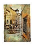 Streets Of Medieval Spain - Picture In Painting Style Prints by  Maugli-l