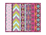 Seamless Colorful Aztec Geometric Pattern Posters by  tomuato