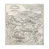 Old Map Of Anatolia Premium Giclee Print by  marzolino