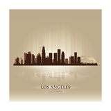 Los Angeles, California Skyline City Silhouette Prints by  Yurkaimmortal
