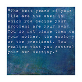 Inspirational Quote By Albert Ellis On Earthy Blue Background Posters by  nagib