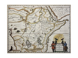 Ethiopia Old Map. Created By Joan Blaeu, Published In Amsterdam 1650 Plakater af marzolino