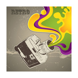 Designed With Retro Camera Premium Giclee Print by  Rashomon
