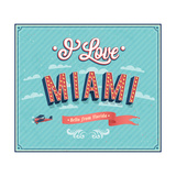 Vintage Greeting Card From Miami - Florida Posters by  MiloArt