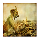 View Of Paris From Notre Dame - Artistic Style Picture Posters by  Maugli-l