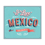 Vintage Greeting Card From Mexico - Mexico Art by  MiloArt