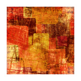Squares On The Grunge Wall, Abstract Background Prints by  molodec