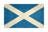 Grunge Scottish Flag Illustration, Isolated On White Background Posters by  Speedfighter