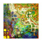Art Abstract Rainbow Pattern Background. To See Similar, Please Visit My Portfolio Print by Irina QQQ