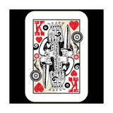Hand Drawn Deck Of Cards, Doodle King Of Hearts Premium Giclee Print by Andriy Zholudyev