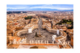 Rome, Italy. Famous Saint Peter'S Square In Vatican And Aerial View Of The City Prints by  bloodua
