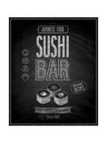 avean - Vintage Sushi Bar Poster - Chalkboard Obrazy