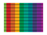 Colorful Background With Horizontal Lines Print by  maxmitzu