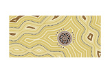 Illu.Based On Aboriginal Style Of Dot Painting Desert Prints by  deboracilli