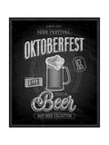Vintage Beer Brewery Poster - Chalkboard Art by  avean