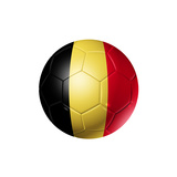 Soccer Football Ball With Belgium Flag Prints by  daboost