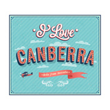 Vintage Greeting Card From Canberra - Australia Prints by  MiloArt