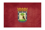 Grunge Illustration Of Madrid City Flag, Spain Print by  Speedfighter