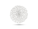 Hand-Drawn Flower Chrysanthemum. Element For Design. Abstract Floral Background Posters by Helga Pataki