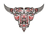 Haida Style Tattoo Design Created With Animal Images Kunst von  Arty