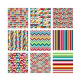 Collection Of Nine Bright Geometrics Premium Giclee Print by Pink Pueblo