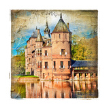 Medieval Castle - Artwork In Painting Style (From My Castles Collection) Posters by  Maugli-l