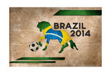 Year Of Football And Horse Of Brazil 2014 Posters by  NatanaelGinting
