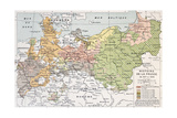 Prussia Historical Development Map Prints by  marzolino