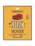 Vintage Steak House Poster Posters par  avean