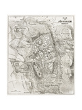 Jerusalem Old Map Print by  marzolino