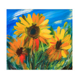 The Sunflowers Posters by  balaikin2009