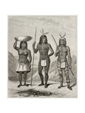 Old Illsutration Of Mohave People, Native American Prints by  marzolino