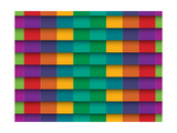 Colorful Background With Horizontal Lines Prints by  maxmitzu