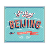 Vintage Greeting Card From Beijing - China ポスター :  MiloArt
