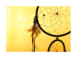Beautiful Dream Catcher On Yellow Background Prints by  Yastremska
