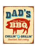 Dad's BBQ Kunstdrucke von Real Callahan