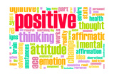Thinking Positive As An Attitude Abstract Concept Posters by  kentoh