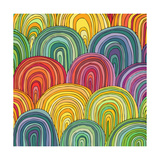 Colorful Circle Modern Abstract Design Pattern Poster by  Melindula