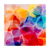 Multicolored Background Watercolor Painting Posters by  epic44