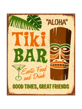 Vintage Metal Sign - Tiki Bar Poster by Real Callahan