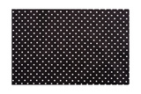 Black And White Dots Fabric Background Art by  molodec