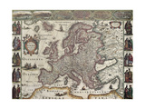 Europa Old Map. Created By Henricus Hondius, Published In Amsterdam, 1623 Art by  marzolino