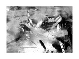 Abstract Black And White Painting On Grunge Paper Texture Posters by  run4it