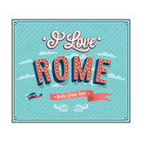 Vintage Greeting Card From Rome - Italy Posters by  MiloArt